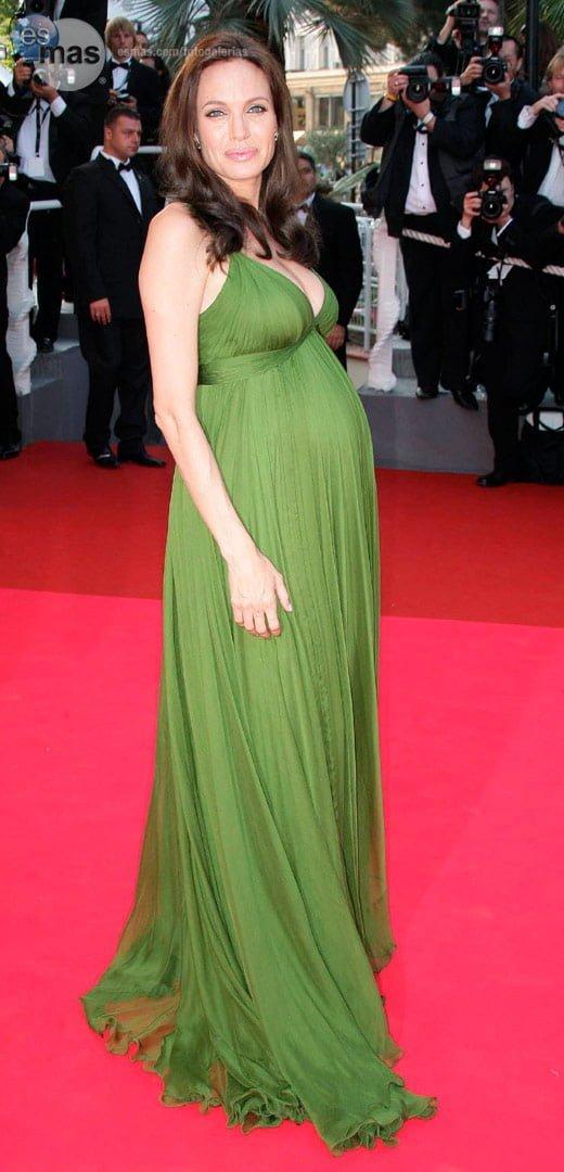 vestido corte imperial para embarazadas.