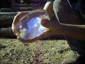 fogata con hielo