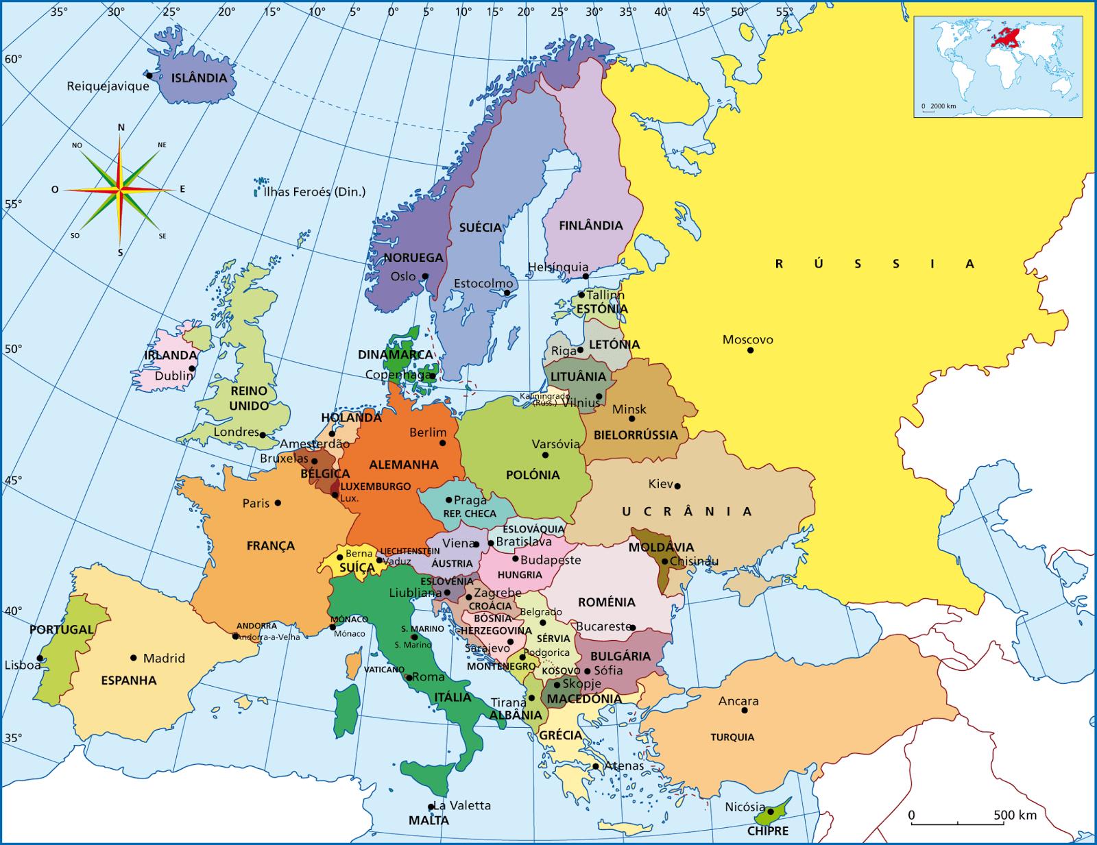 paises y capitales de europa